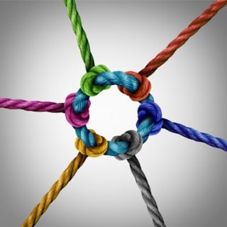 Diverse ropes connected